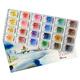 Набор акварельных красок Белые ночи 24 цвета 2,5 мл кюветы в картоне 350327