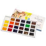 Набор акварельных красок Сонет 24 цвета 2,5 мл кюветы 350814