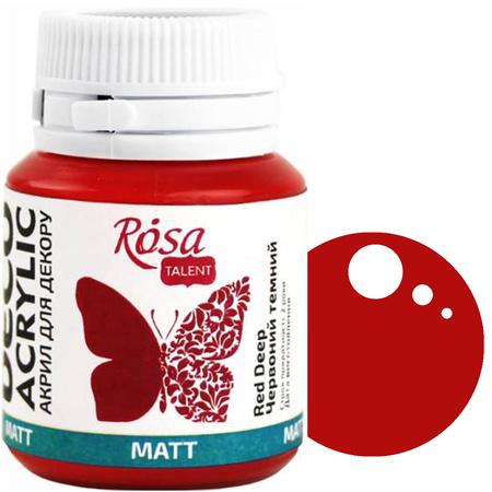 Краска акриловая для декора ROSA 20 мл матовый (08) Красный темный 20008
