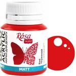Краска акриловая для декора ROSA 20 мл матовый (07) Красный 20007