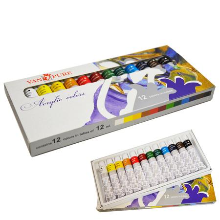 Набор акриловых красок Van Pure 12 цветов 12 мл тубы в картоне A 12 12