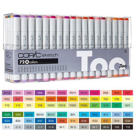 Набор маркеров Copic Sketch Set А 72 цвета (21075160)