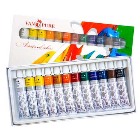 Набор масляных красок Van Pure 12 цветов 12 мл тубы в картоне O 12 12