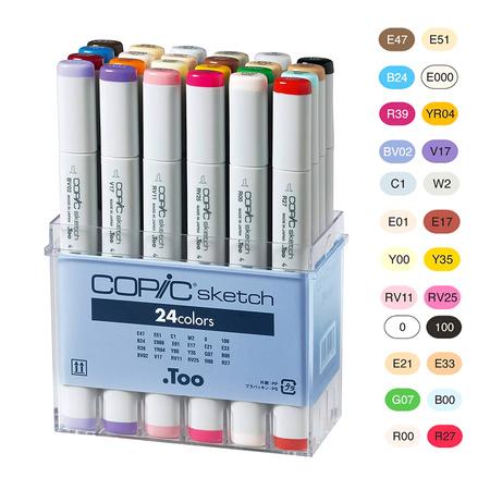 Copic набір маркерів Sketch Set (24 шт) 21075524
