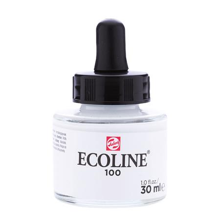 Краска акварельная жидкая Ecoline 30 мл (100) Белая 11251001