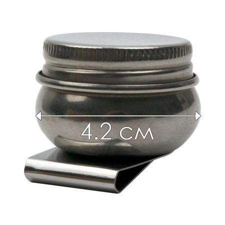 Масленка одинарная металлическая (d:4,2см) D.K.ART & CRAFT 94160464