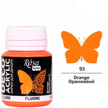 Краска акриловая ROSA TALENT 20мл (93) Оранжевая флуоресцентная 323060193