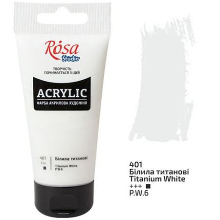 Акриловая краска ROSA Studio 75 мл (401) Белила титановые 32241401