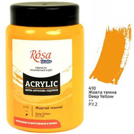 Краска акриловая ROSA Studio 400 мл (410) Желтая темная 322419410