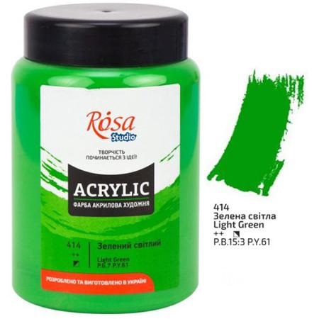 Краска акриловая ROSA Studio 400 мл (414) Зеленая светлая 322419414