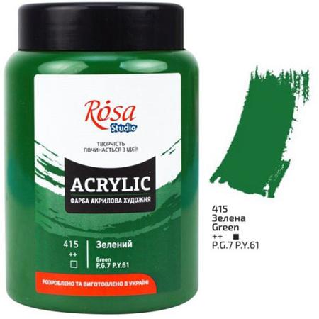 Краска акриловая ROSA Studio 400 мл (415) Зеленая 322419415