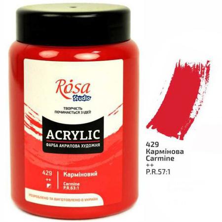 Краска акриловая ROSA Studio 400 мл (429) Карминовая 322419429