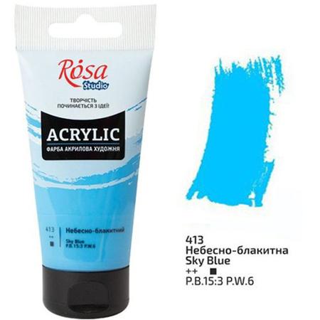 Акриловая краска ROSA Studio 75 мл (413) Небесно-голубая 32241413