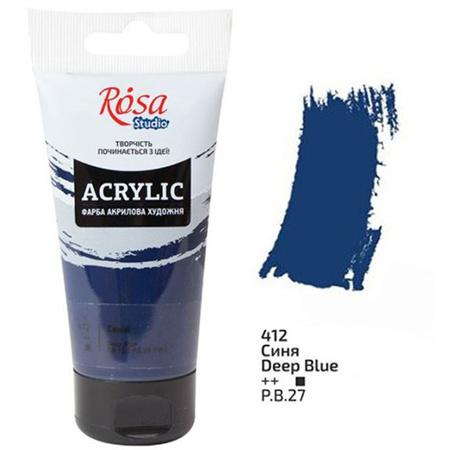 Акриловая краска ROSA Studio 75 мл (412) Синяя 32241412