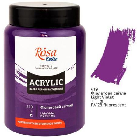 Краска акриловая ROSA Studio 400 мл (419) Фиолетовая светлая 322419419