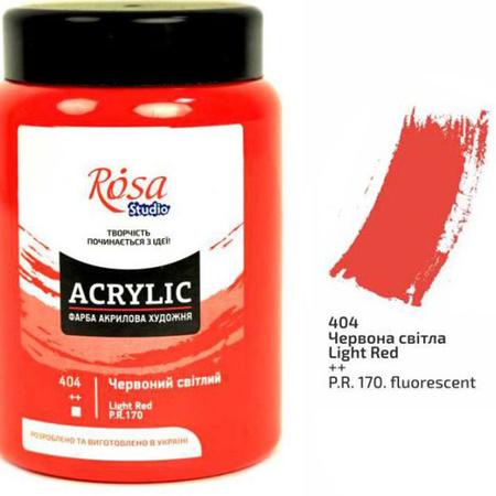 Краска акриловая ROSA Studio 400 мл (404) Красная светлая 322419404