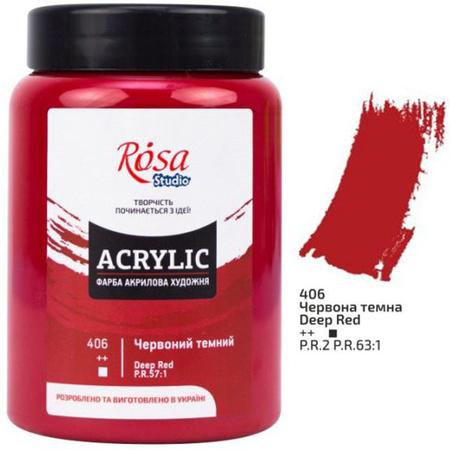 Краска акриловая ROSA Studio 400 мл (406) Красная темная 322419406