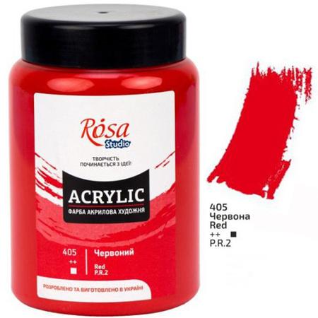 Краска акриловая ROSA Studio 400 мл (405) Красная 322419405
