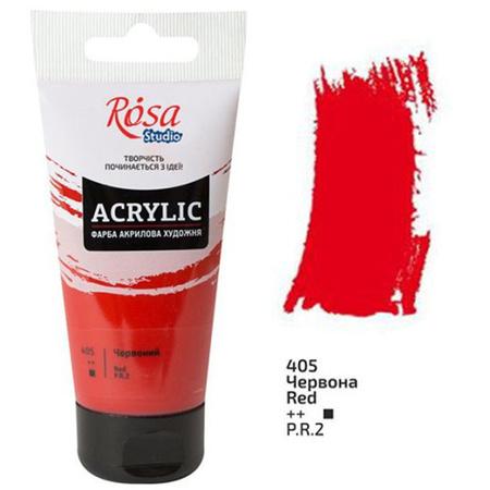 Акриловая краска ROSA Studio 75 мл (405) Красная 32241405