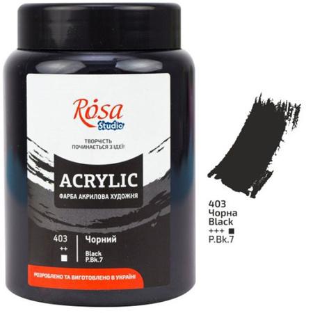 Краска акриловая ROSA Studio 400 мл (403) Черная 322419403