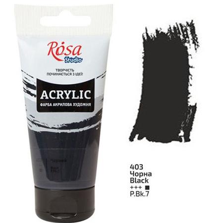 Акриловая краска ROSA Studio 75 мл (403) Черная 32241403