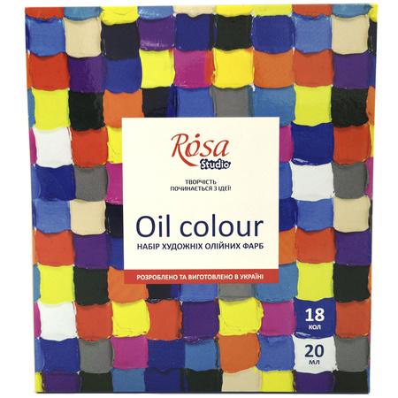 Набор масляных красок ROSA Studio 18 цвета 20 мл тубы в картоне 131008
