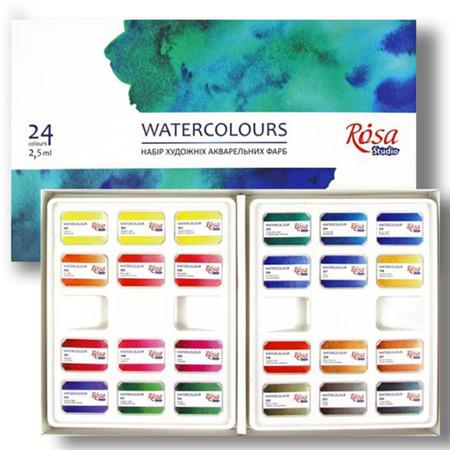 Набор акварельных красок ROSA кювета Studio 24 цв 340224