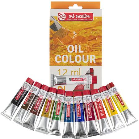 Набор масляных красок ArtCreation 12 цветов 12 мл тубы в картоне 9020112M