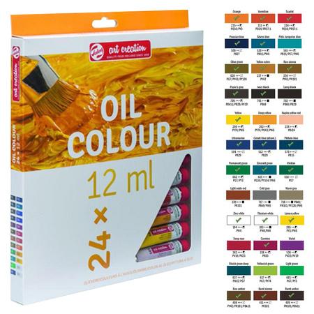 Набор масляных красок ArtCreation 24 цвета 12 мл тубы в картоне 9020124M