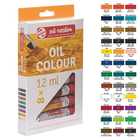 Набор масляных красок ArtCreation 8 цветов 12 мл тубы в картоне 9020108M