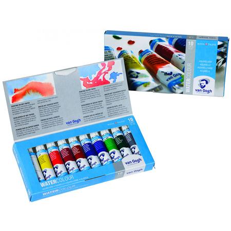 Набор акварельных красок VAN GOGH 10 цветов10 мл тубы в картоне 20820110
