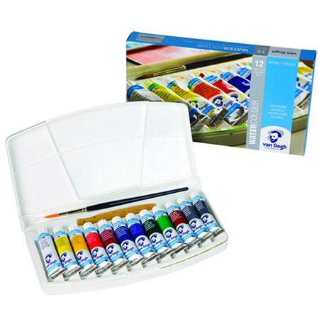 Набор акварельных красок VAN GOGH 12 цветов 10 мл тубы в пластике + кисть 20800112