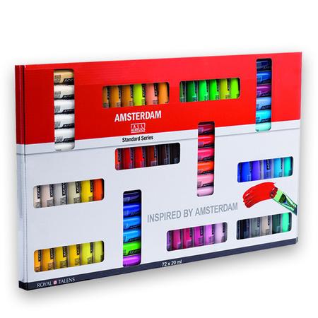 Набор акриловых красок AMSTERDAM STANDARD 72 цветов 20 мл тубы в картоне 17820472
