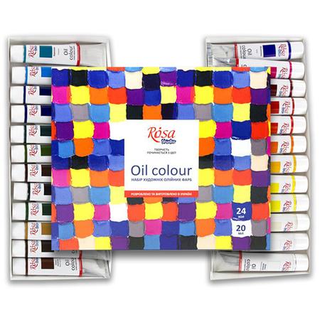 Набор масляных красок ROSA Studio 24 цвета 20 мл тубы в картоне 131009