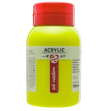 Краска акриловая Talens Art Creation 750 мл (617) Желтовато-зеленый 3574617M