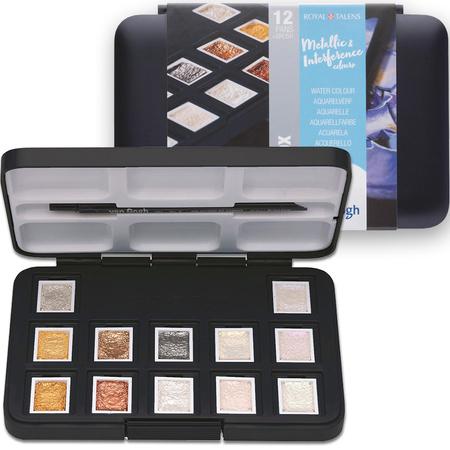 Набор акварельных красок Pocket box SPECIALTY 12 кювет + кисточка в пластике 200808640