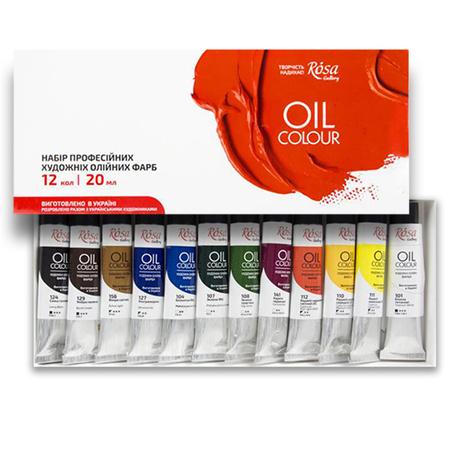 Набор масляных красок ROSA Gallery 12 цветов 20 мл тубы в картоне 131004