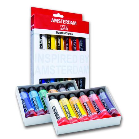 Набор акриловых красок AMSTERDAM STANDARD 12 цветов 20 мл тубы в картоне 17820412