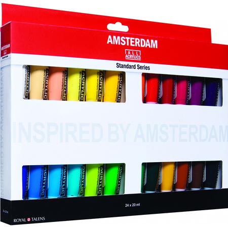 Набор акриловых красок AMSTERDAM STANDARD 24 цветов 20 мл тубы в картоне 17820424