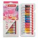 Набор акриловых красок ArtCreation 12 цветов 12 мл тубы в картоне 9021712M