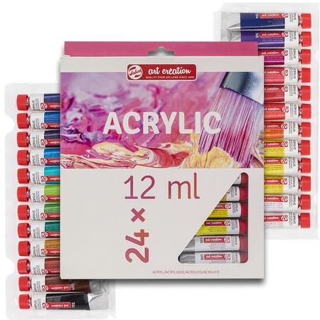 Набор акриловых красок ArtCreation 24 цветов 12 мл тубы в картоне 9021724M