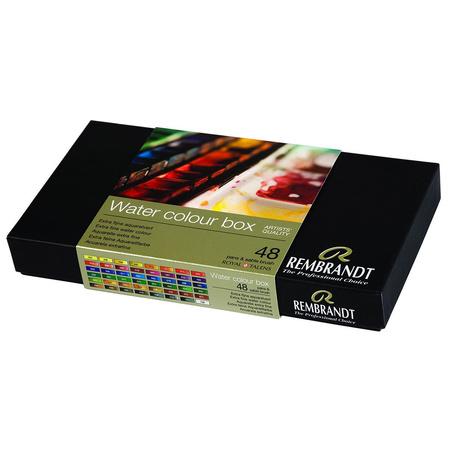 Набор акварельных красок Rembrandt De Luxe 48 цветов 2,5 мл кюветы в металле 5838649