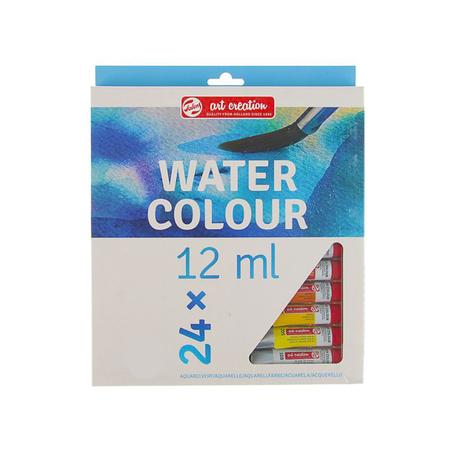 Набор акварельных красок ArtCreation 24 цвета 12 мл тубы в картоне 9022024M