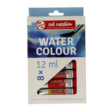 Набор акварельных красок ArtCreation 8 цветов 12 мл тубы в картоне 9022008M