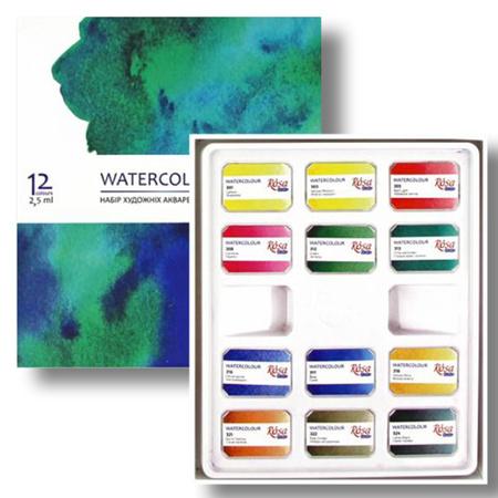 Набор акварельных красок ROSA Studio кювета 12 цв 340212