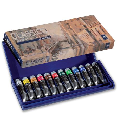 """Набор масляных красок """"Classico 055"""" 12 цветов 20 мл тубы в пластике 0398055"""