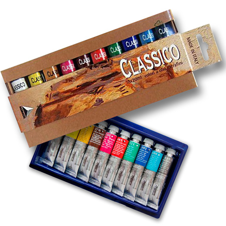 """Набор масляных красок """"Classico 100"""" блистер 10 цветов 20 мл тубы в картоне 0398100"""