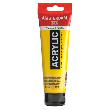 Краска акриловая AMSTERDAM 120 мл (272) Прозрачный  желтый средний 17092722