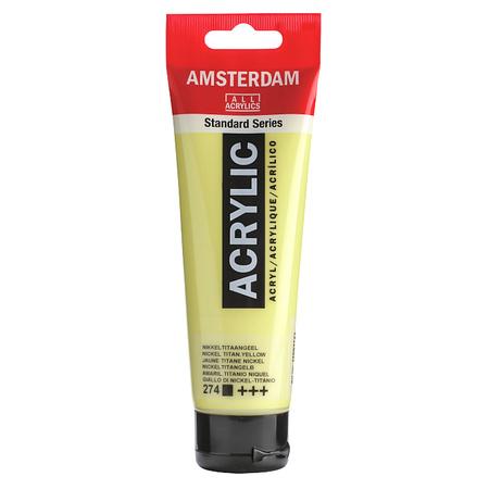 Краска акриловая AMSTERDAM 120 мл (274) Никелево-титановый желтый 17092742