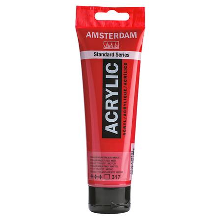 Краска акриловая AMSTERDAM 120 мл (317) Прозрачный красный средный 17093172